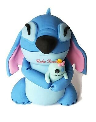 Fondant Stitch Cake Topper from Lilo and Stitch