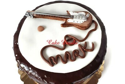 Fondant Guitar Cake Topper, Music Cake Decorations,
