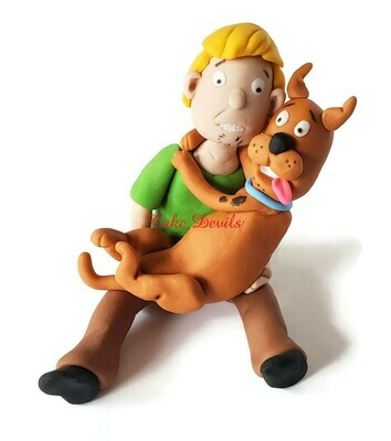 Scooby Doo Fondant Cake Topper, Scooby and Shaggy
