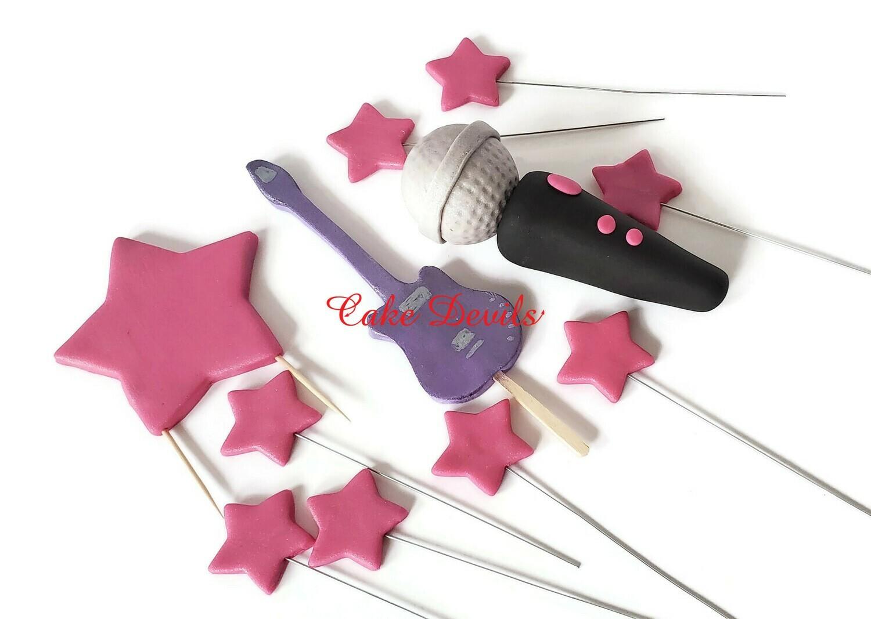 Pop Star Music Cake - Rock Music Hannah Montana Style!