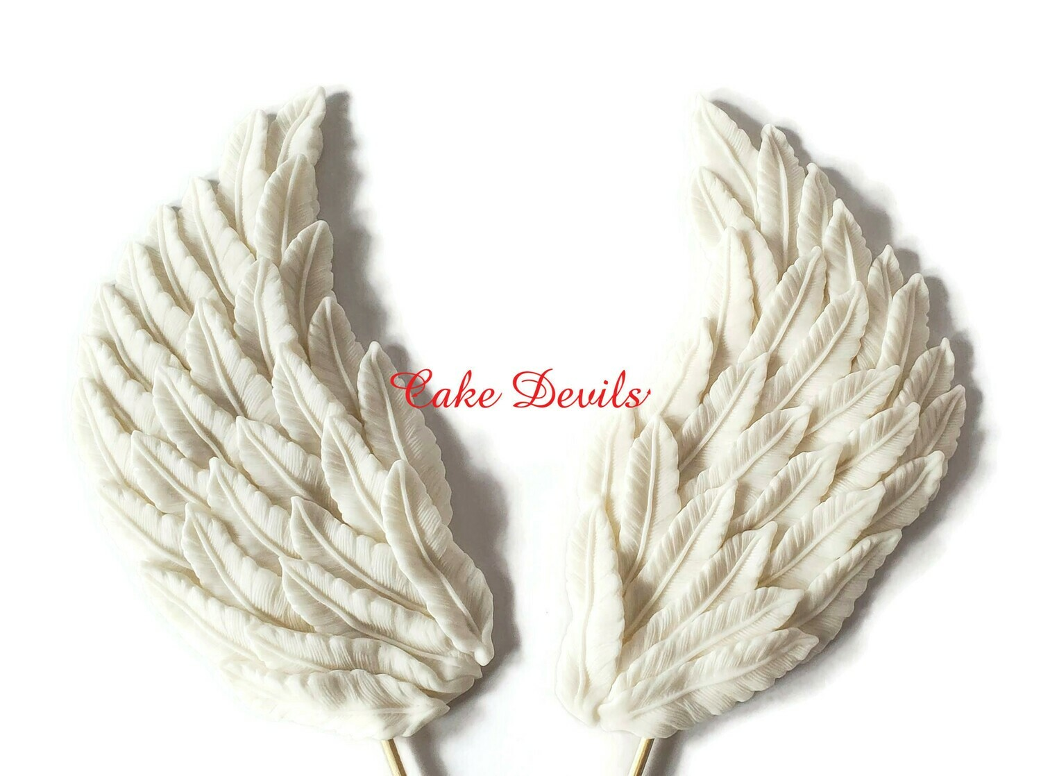 Large Fondant Angel Wings Cake Toppers