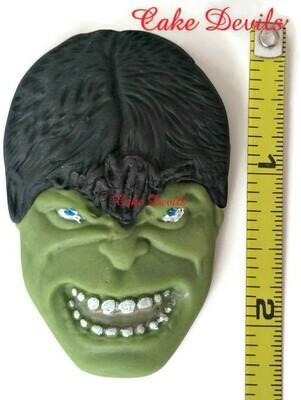 Fondant Hulk Face Cake Topper