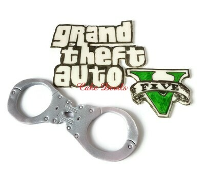 Grand Theft Auto Cake, Fondant Toppers