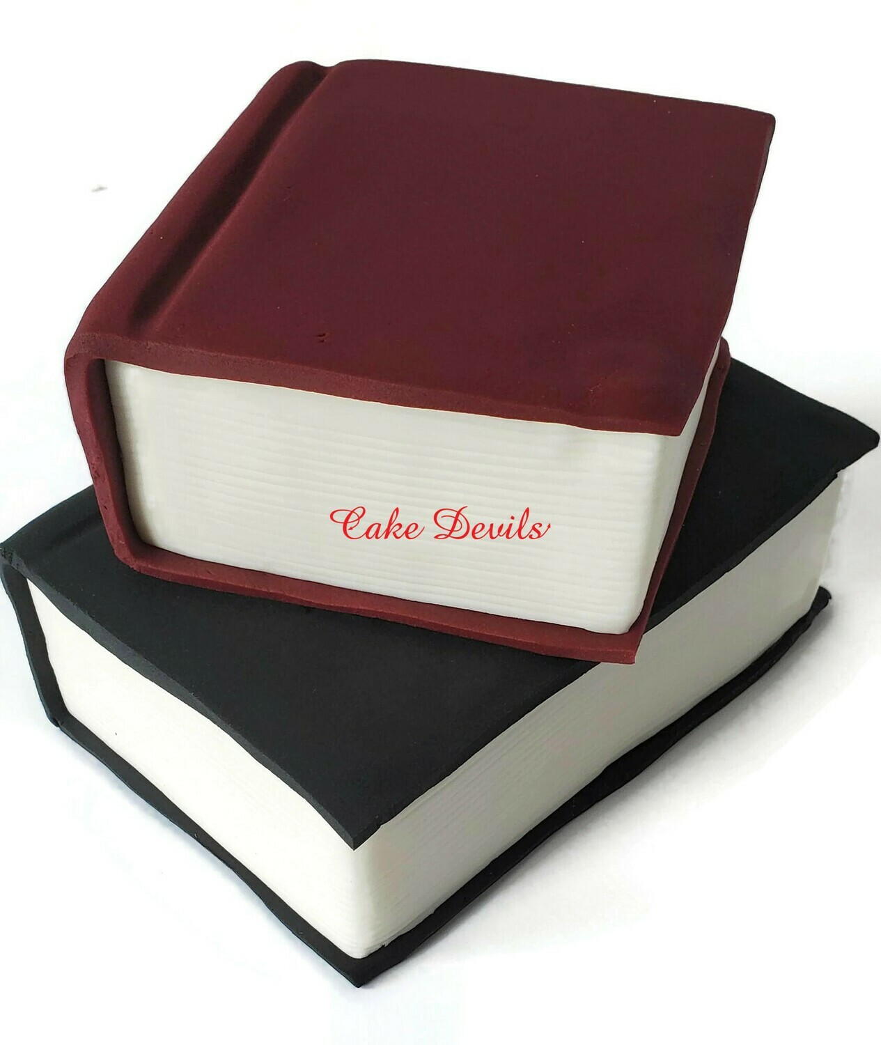 Fondant Stacked Books LARGE Cake Toppers, Perfect for Graduation Cake Or an Nursery Rhyme theme Baby Shower