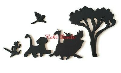 Fondant Lion King Silhouette Cake Decorations