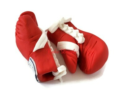 Boxing Gloves Cake Topper, Boxing Gloves with White laces, Tuf-Wear Laced up Boxing gloves