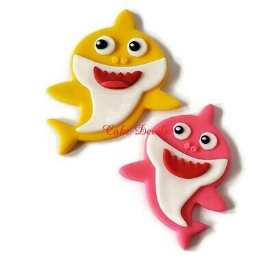 Fondant Baby Shark Cake Toppers