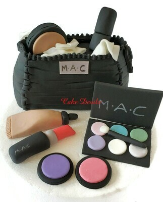 Makeup Fondant Cake Toppers with Cosmetic Bag Cake Decorations