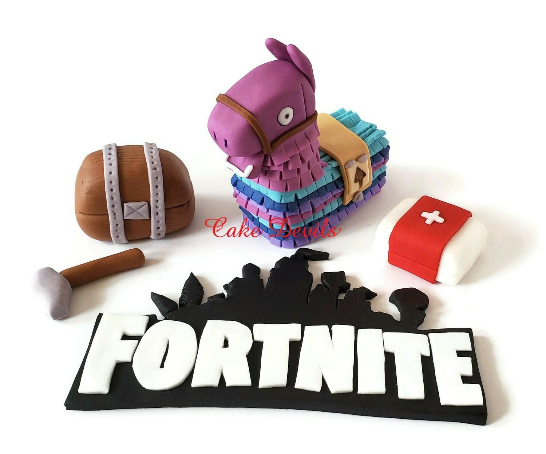 Fortnite Llama Pinata Fred Fondant Cake Toppers