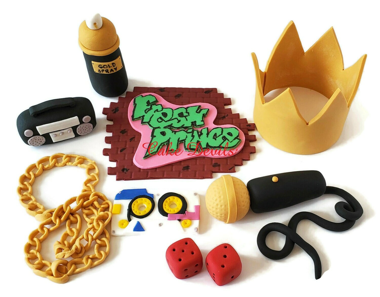 90's Theme Fondant Cake Toppers, Fresh Prince