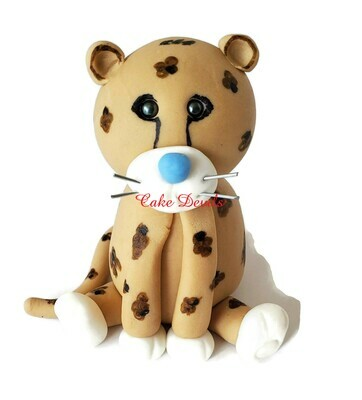 Fondant Cheetah Cake Topper
