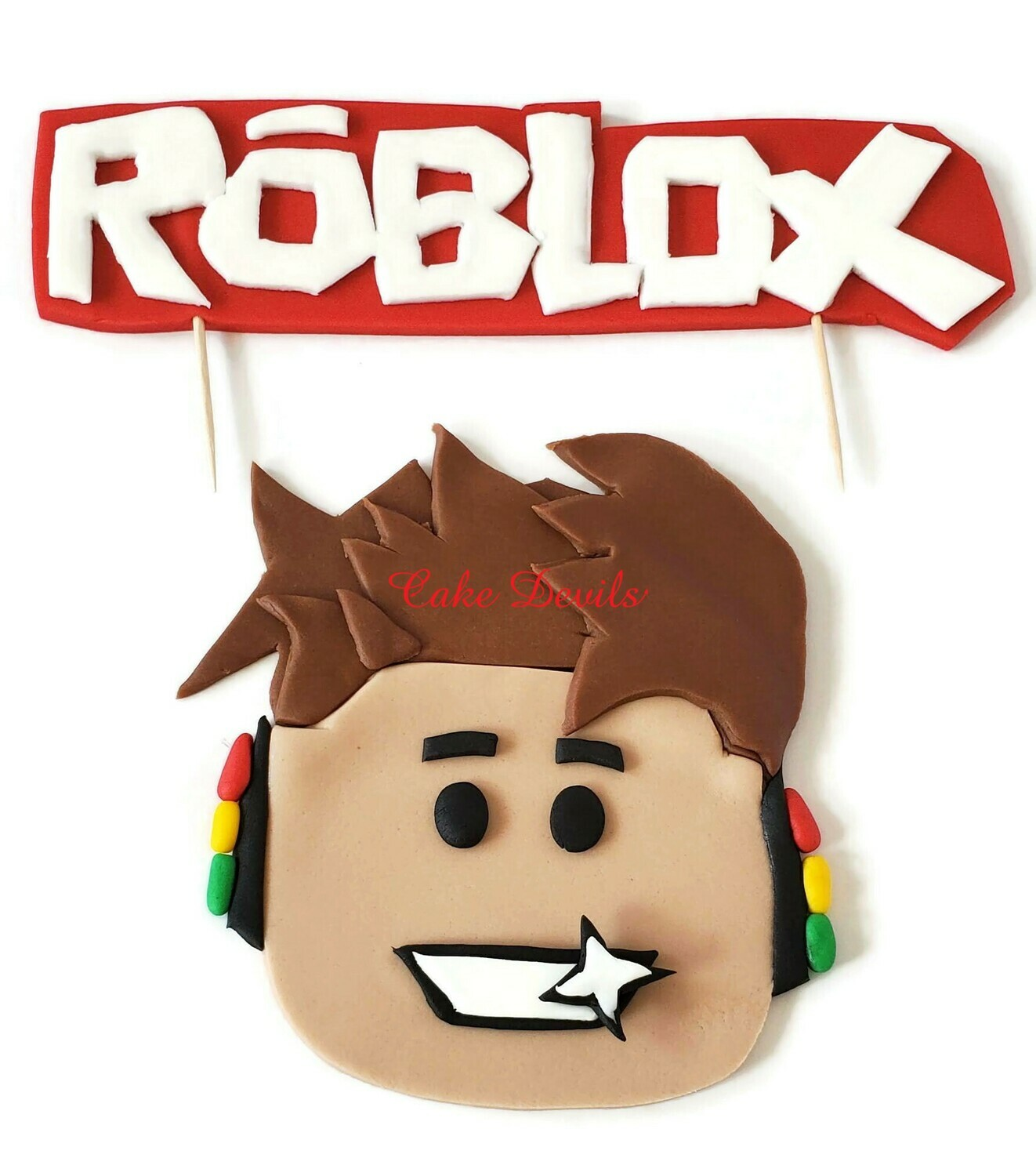 Fondant Roblox Cake Toppers