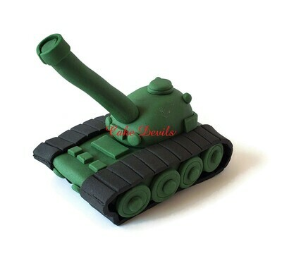 Fondant Army Tank Cake Topper, Military Cake Decorations