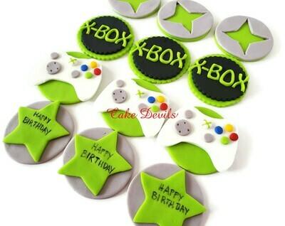 Fondant Xbox Cupcake Toppers
