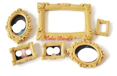 Fondant Picture Frame Cake Toppers with Optional Edible Image Photo