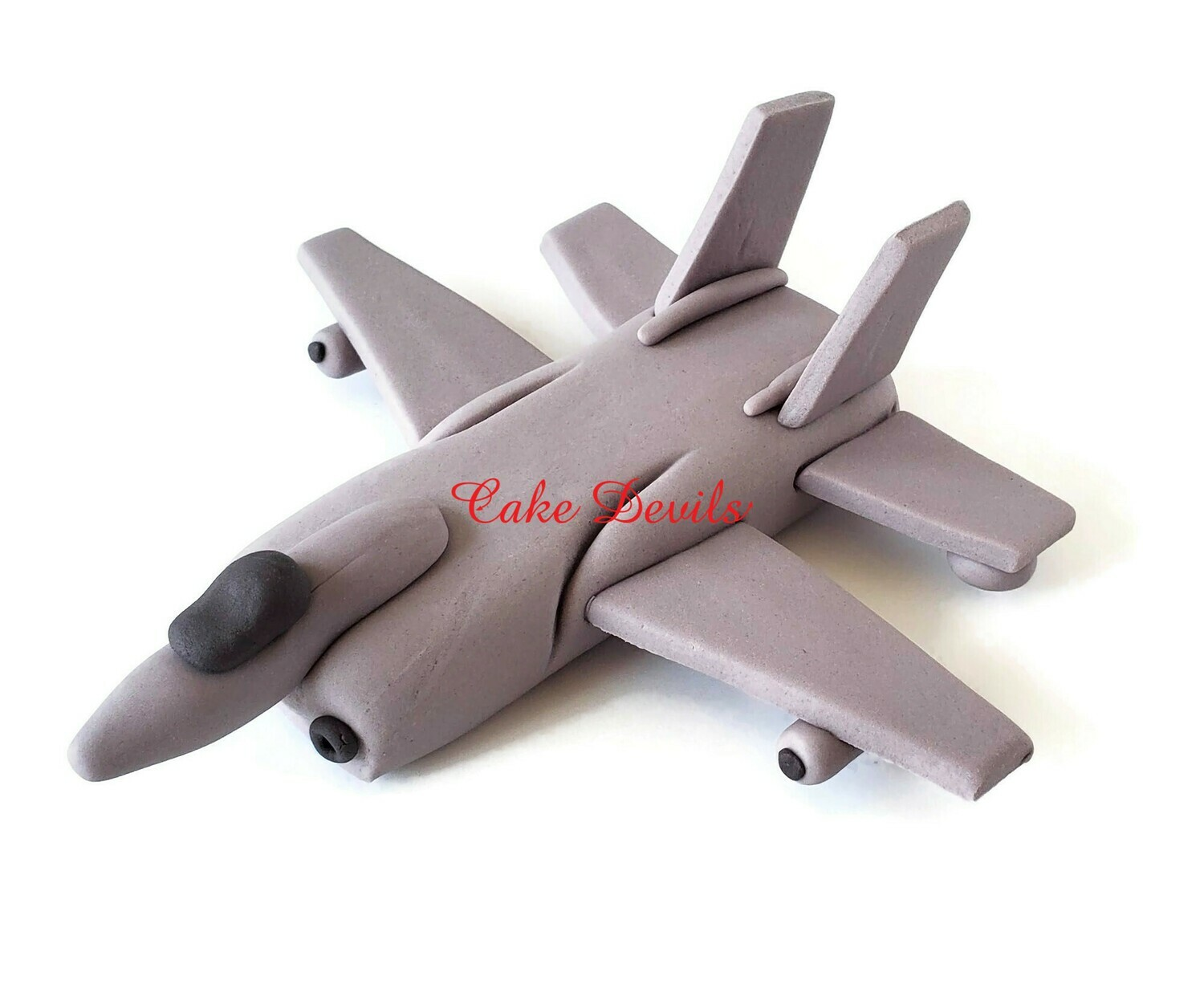 Fondant Fighter Jet Aircraft Cake Topper, perfect Plane for a Military retirement or birthday