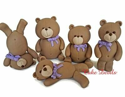 Teddy Bear Cake Toppers, Bear Cake Decorations for Baby Shower, Birthday and more!