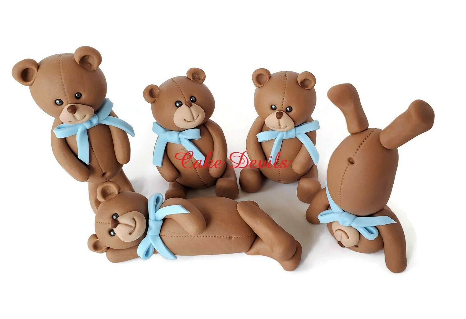 Teddy Bear Cake Toppers, Bears Cake Decorations for Baby Shower, Birthday and more!