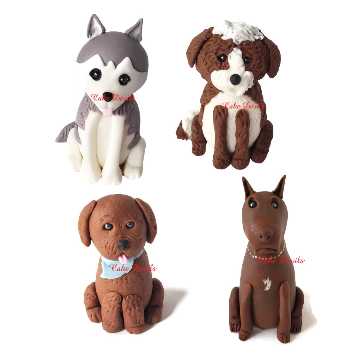 Handmade Fondant Dog Cake Topper - Have one made to look like your dog!