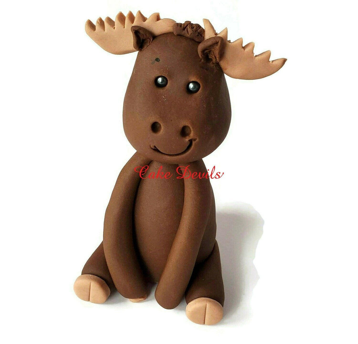 Fondant Moose Cake Topper, Great with the Woodland Animal kits!
