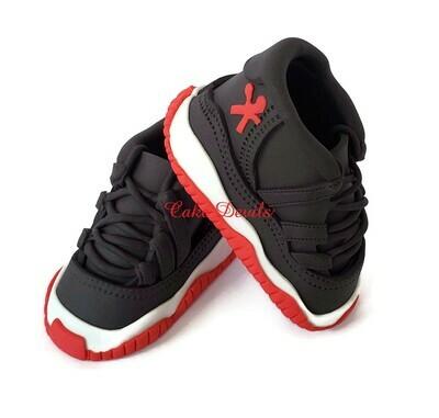 Fondant Sneakers Cake Toppers, Nike Jordan 11 inspired
