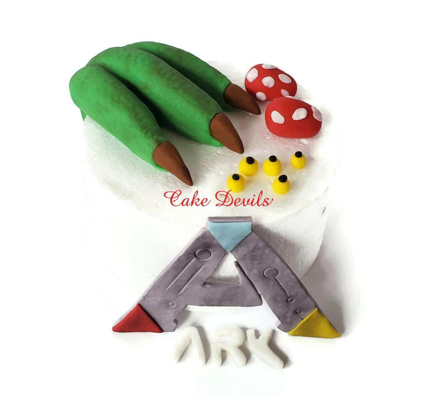Dinosaur Claw and Eggs Ark Survival Fondant Cake Toppers