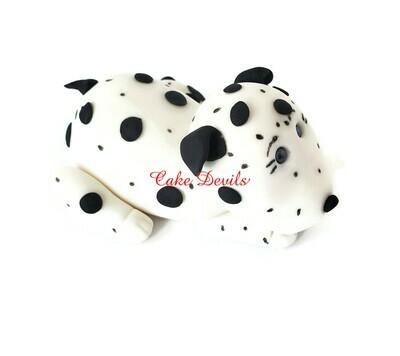 Fondant Dalmatian Dog Cake Topper