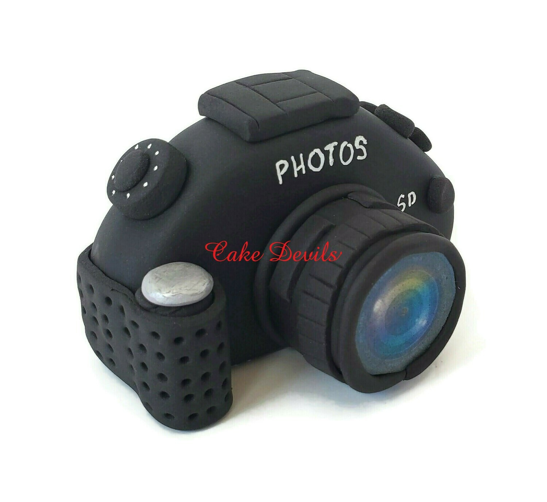 Fondant Camera Cake Topper, DSLR Camera for the photographer