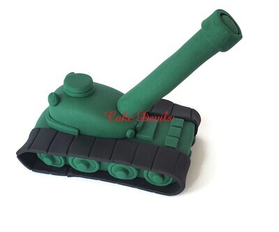 Fondant Army Tank Cake Topper, Military Cake Decorations