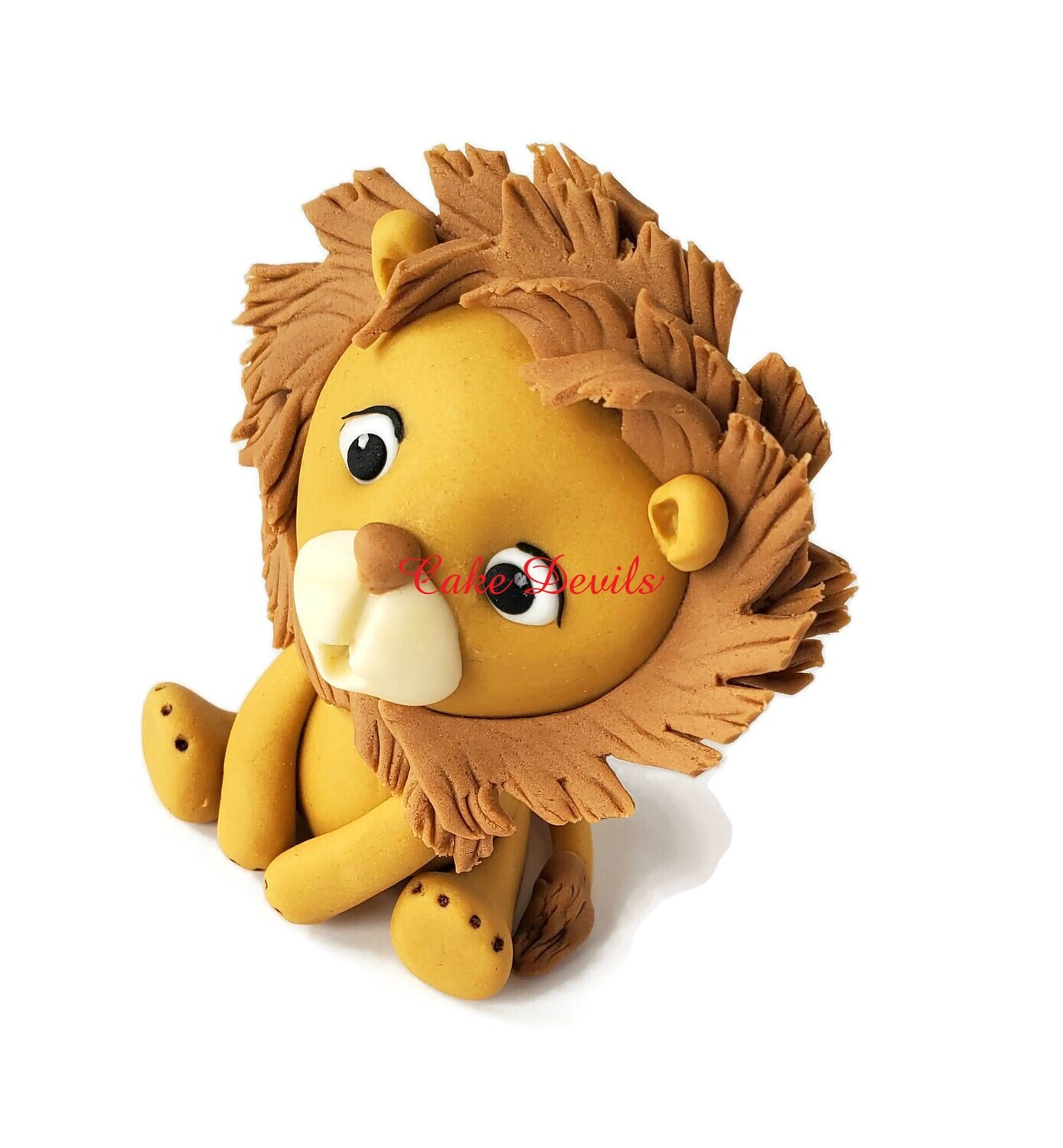 Fondant Lion Cake Topper, perfect for a Safari, Wild One, or King of the Jungle Cake