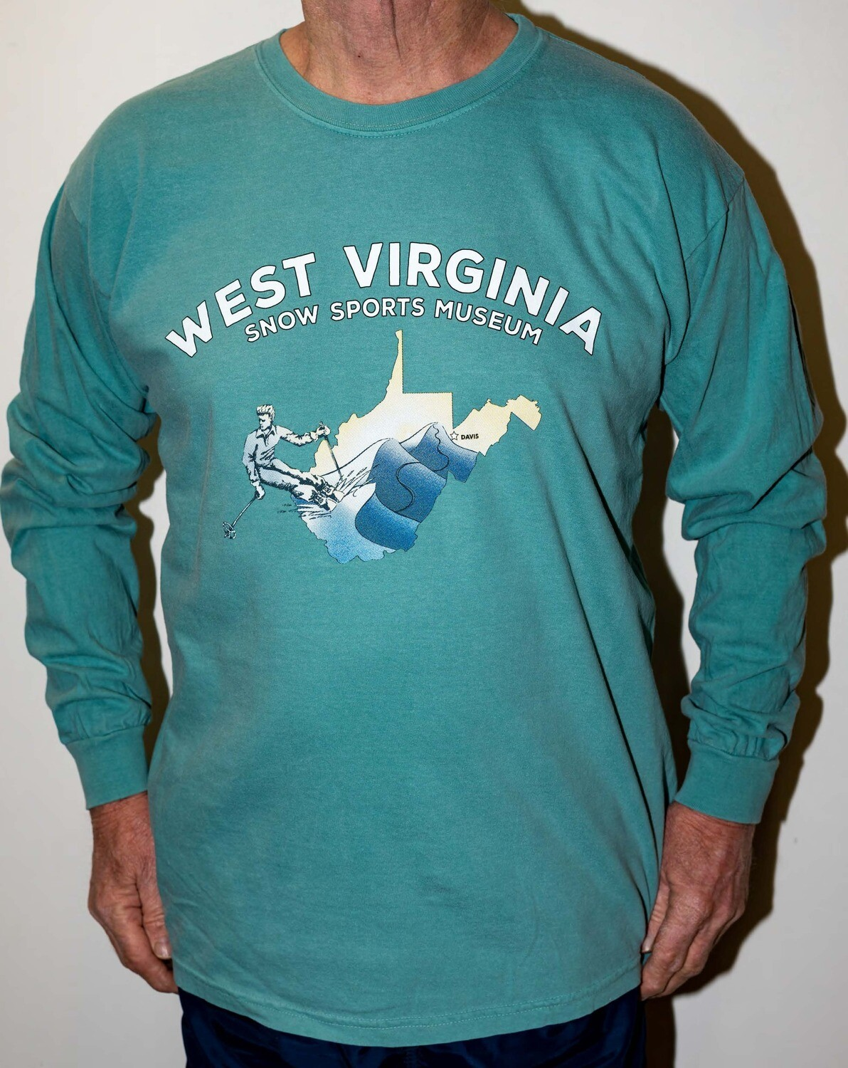 Long Sleeve T-Shirt Teal Green