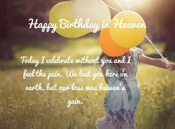 Birthday Balloons in Heaven