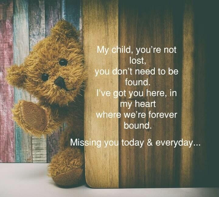 Child Loss Teddy Bear