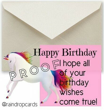 Birthday Unicorn Pink