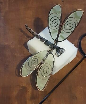 Dragonfly Metal Card Holder