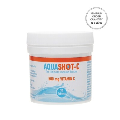 AQUASHOT-C 500 mg Vitamin C 30's Tablets [Min. order 6 x 30's]
