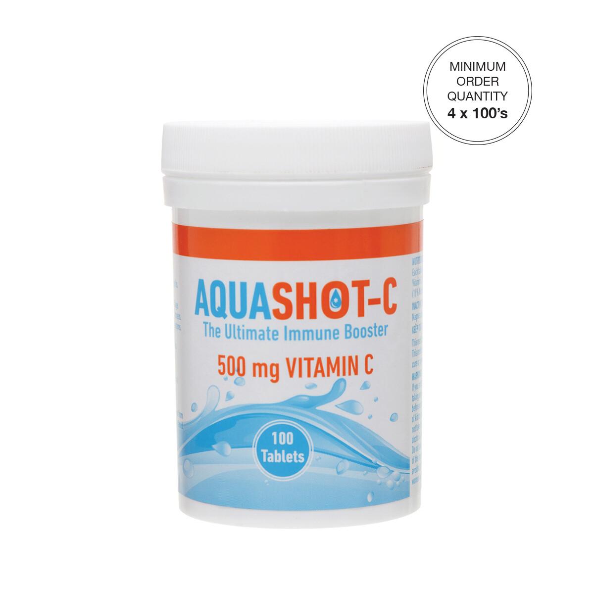 AQUASHOT-C 500 mg Vitamin C 100's Tablets [Min. order 4 x 100's]