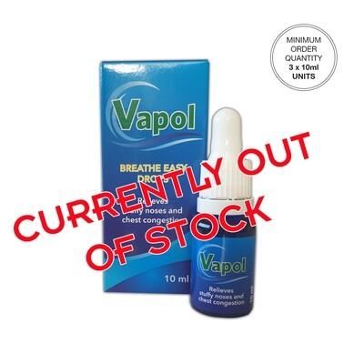 Vapol  [Min. order 3 units @ R70 each]