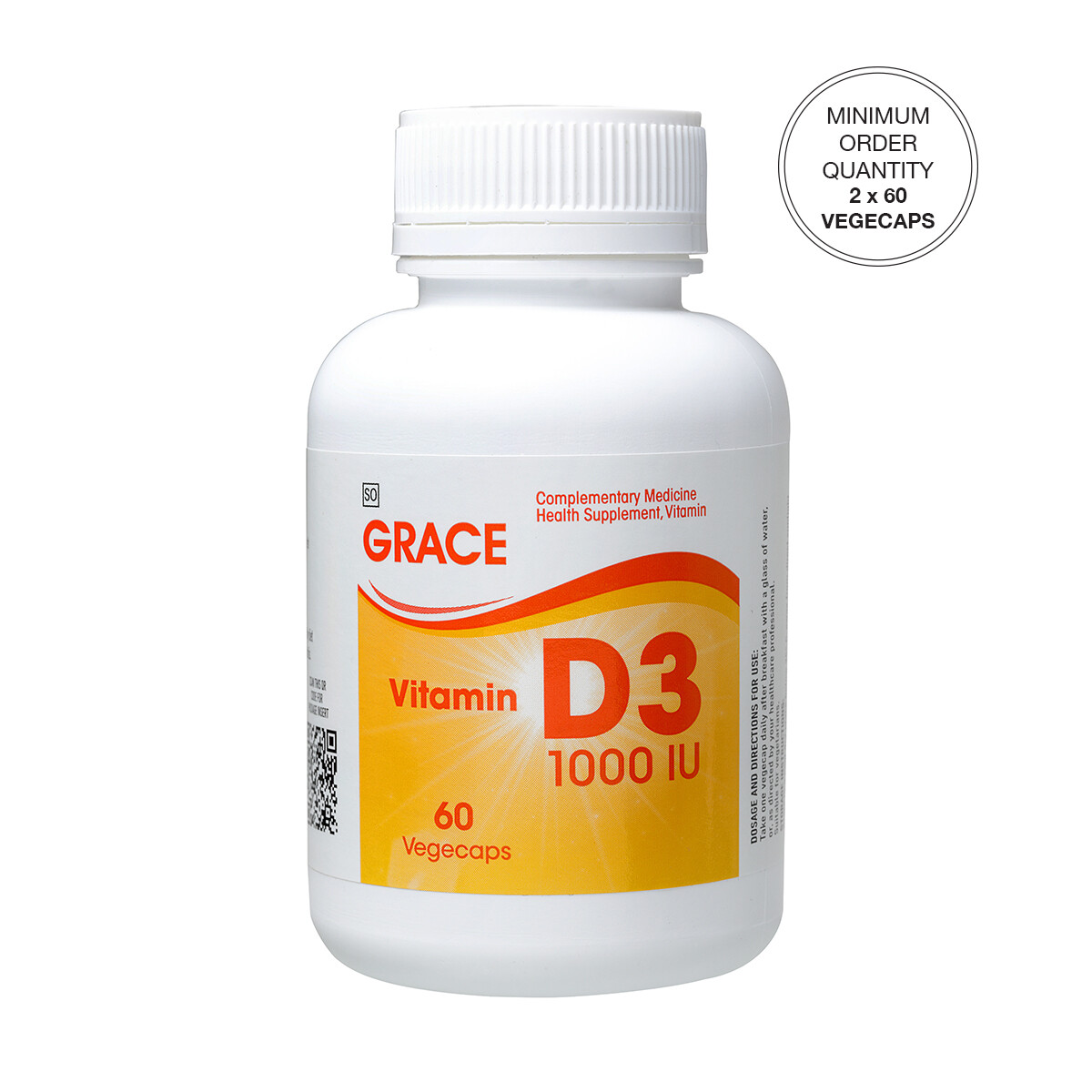 GRACE Vitamin D3 Vegecaps [Min. order 2 x 60's]