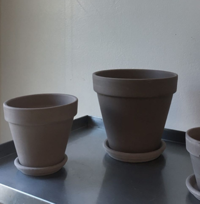 Dark Brown Terracotta Pots and Trays