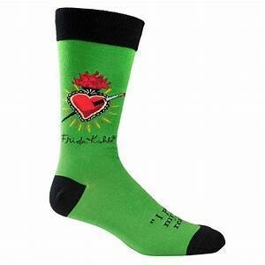 Frida Lime Green Corazon Socks