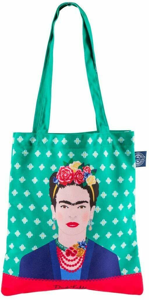 Groovy UK Tote Bags Frida Kahlo Green Tote Bag Green