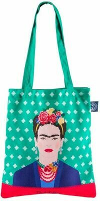 Groovy UK Tote Bags Frida Kahlo Green Tote Bag Green