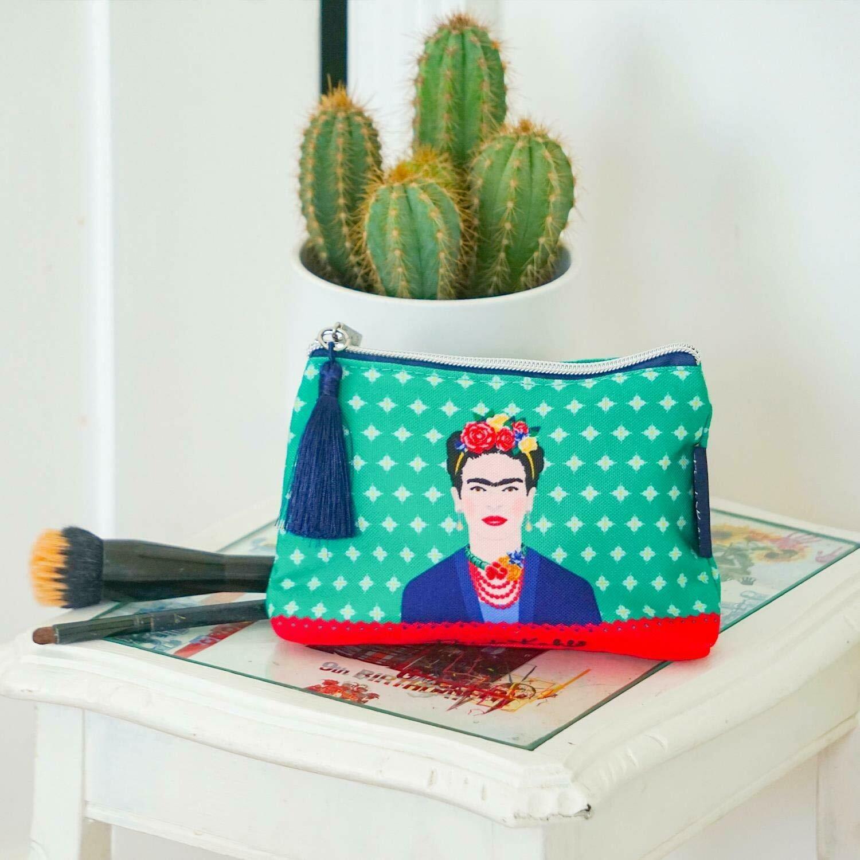 Frida Kahlo Green Vogue Wash Bag