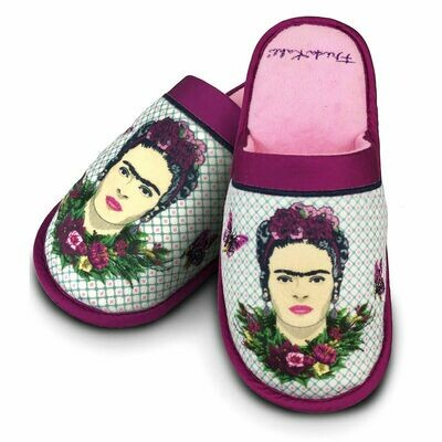 Frida Kahlo Violet ladies slippers