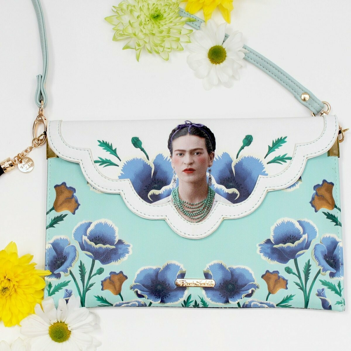 Frida Light Blue Clutch with Strap