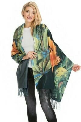 ​Frida Kahlo Semi Sheer Scarves