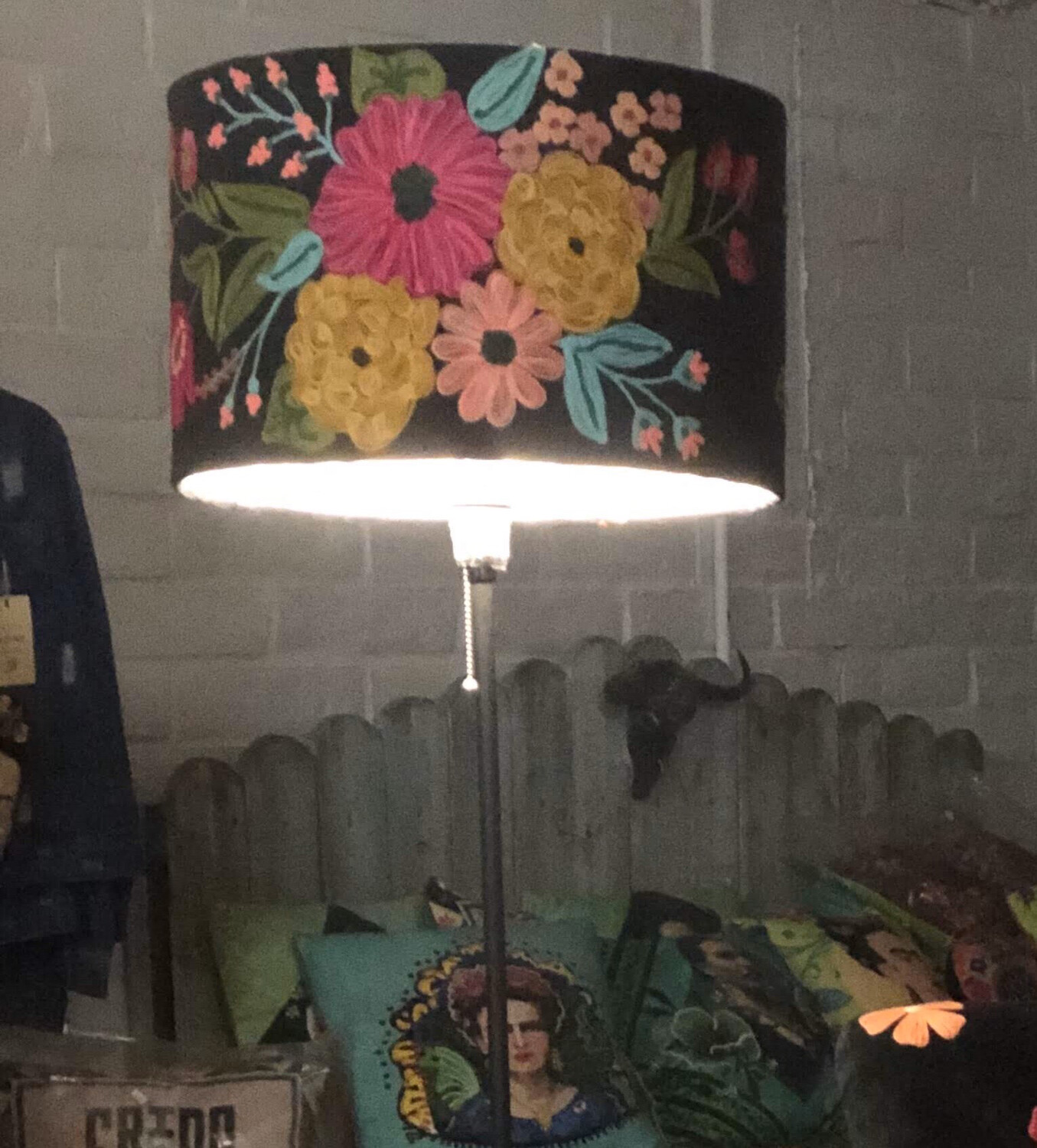 """Detailed Embroidered Large """"Lamp Shade"""""""