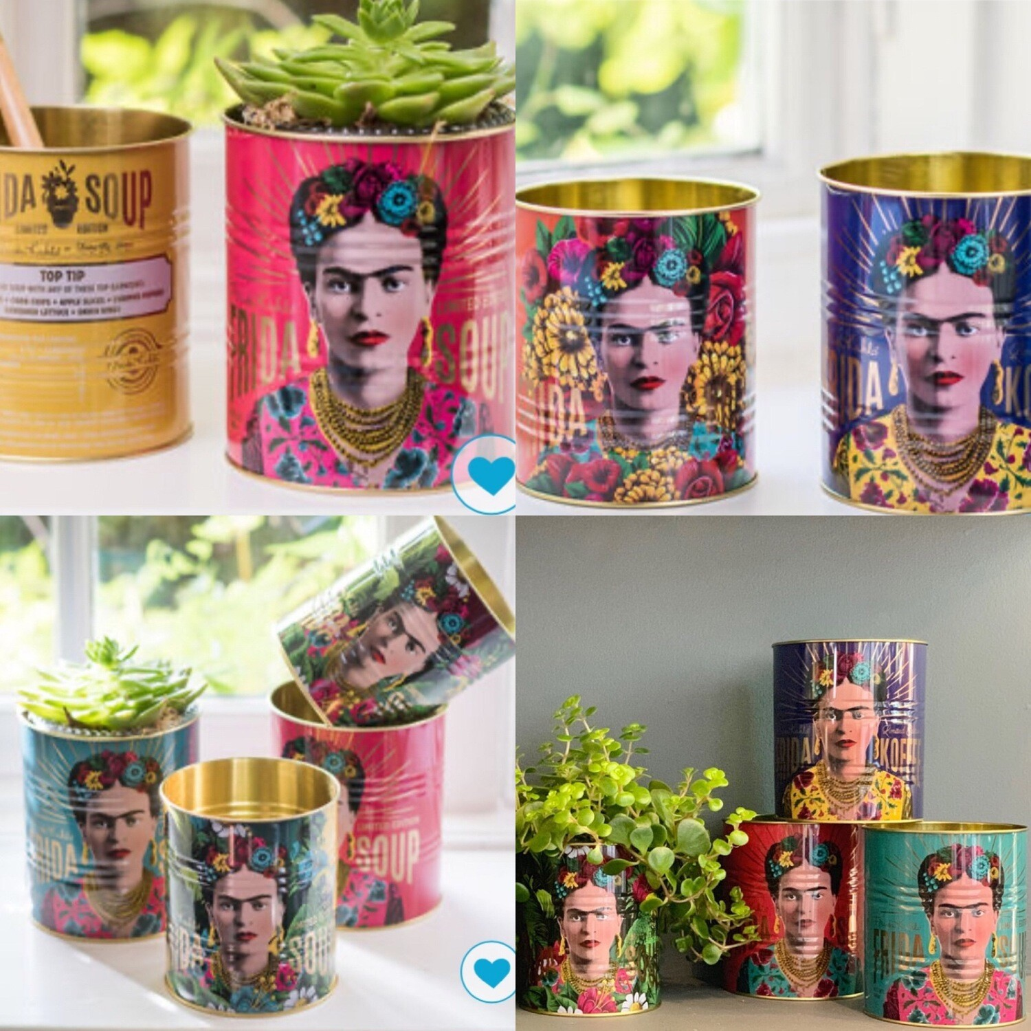 Frida Kahlo Can set of 2