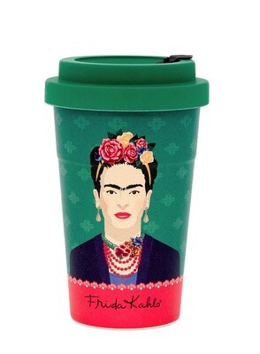 Frida Kahlo Green Vogue Travel Mug